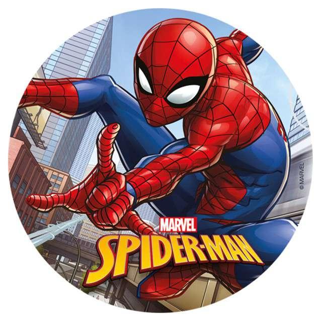 """Dekoracja tortu - opłatek bc """"Spiderman - człowiek pająk"""", 20 cm, Dekora"""