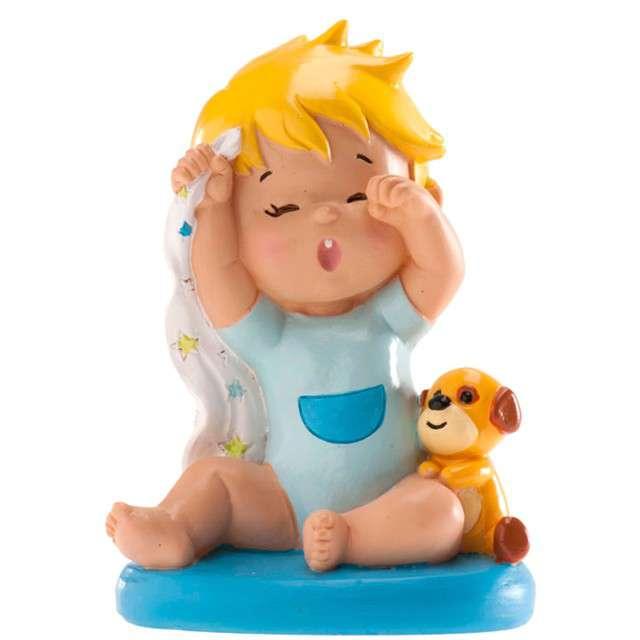 """Figurka na tort """"Chrzest Ziewający chłopiec"""", Dekora, 10 cm"""