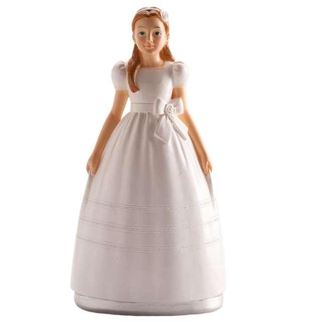 """Figurka na tort """"Komunia Dziewczynka w białej sukni"""", Dekora, 15 cm"""