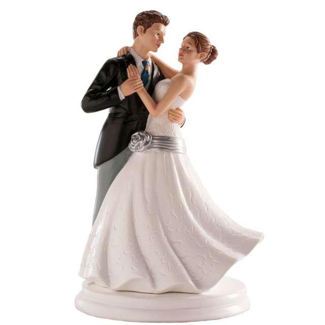 "Figurka na tort ""Tańcząca Para Młoda"", Dekora, 20 cm"