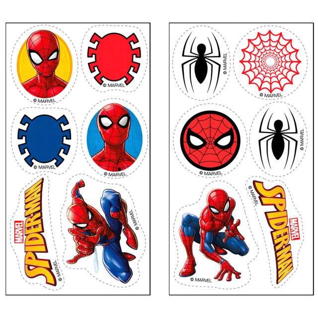 """Dekoracja cukiernicza """"Spiderman"""", Dekora, 12 szt"""