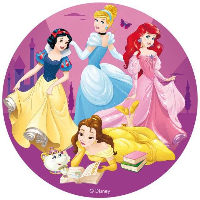 "Dekoracja tortu - opłatek bc ""Księżniczki Disneya"", 16 cm, Dekora"