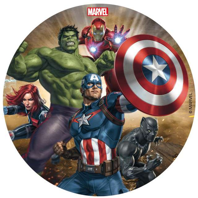 "Dekoracja tortu - opłatek bc ""Avengers"", 16 cm, Dekora"