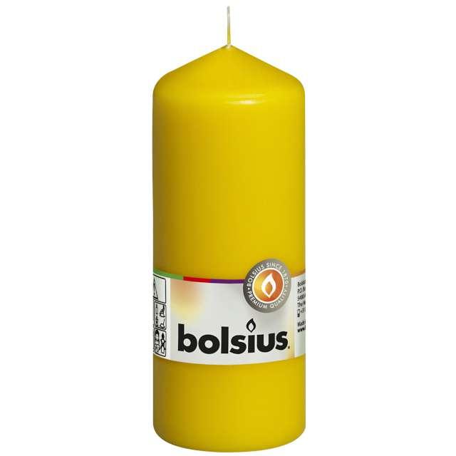 "Świeca pieńkowa ""Classic Long"", żółta, Bolsius, 150/58mm"
