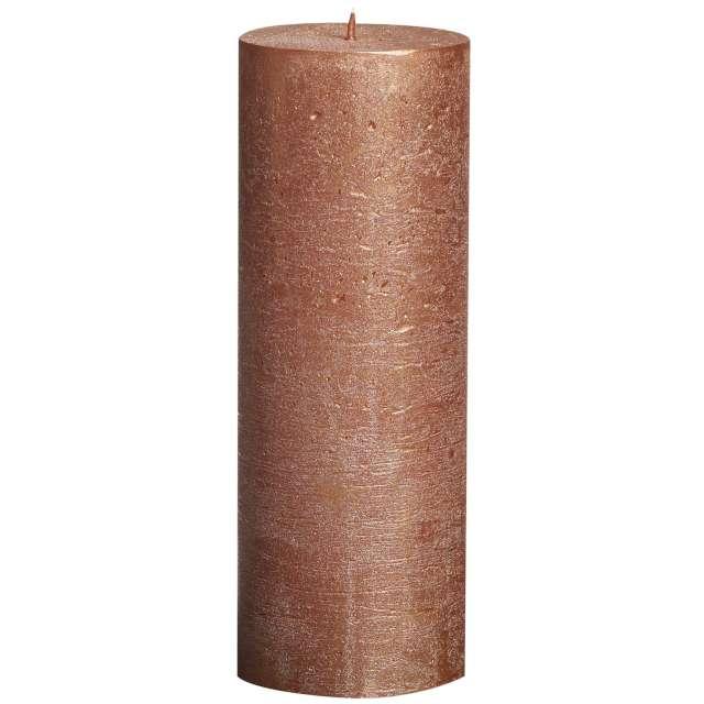 "Świeca pieńkowa ""Rustic Metallic"", miedziana, Bolsius, 190/68 mm"