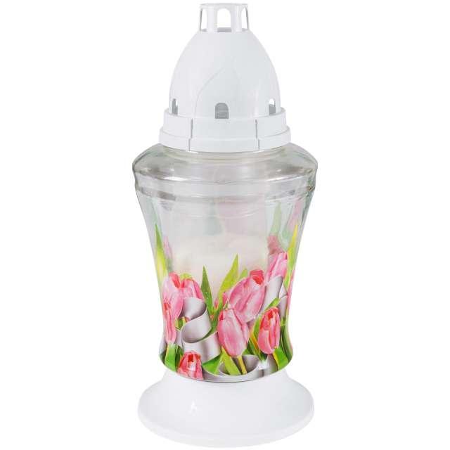 "Znicz ""Lampion 3D Tulipany"", Bolsius, 11x18 cm"