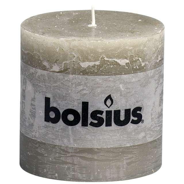"""Świeca pieńkowa """"Rustic"""", kredowa, Bolsius, 100/100 mm"""