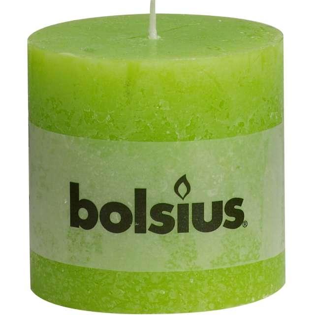 """Świeca pieńkowa """"Rustic"""", zielony jasny, Bolsius, 100/100 mm"""