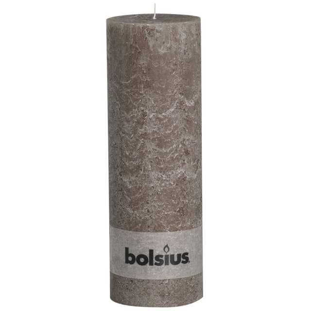 "Świeca pieńkowa ""Rustic"", taupe, Bolsius, 300/100 mm"