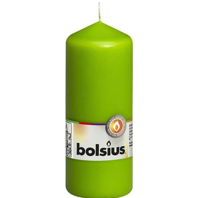 """Świeca pieńkowa """"Classic Long"""", zielony jasny, Bolsius, 150/58mm"""