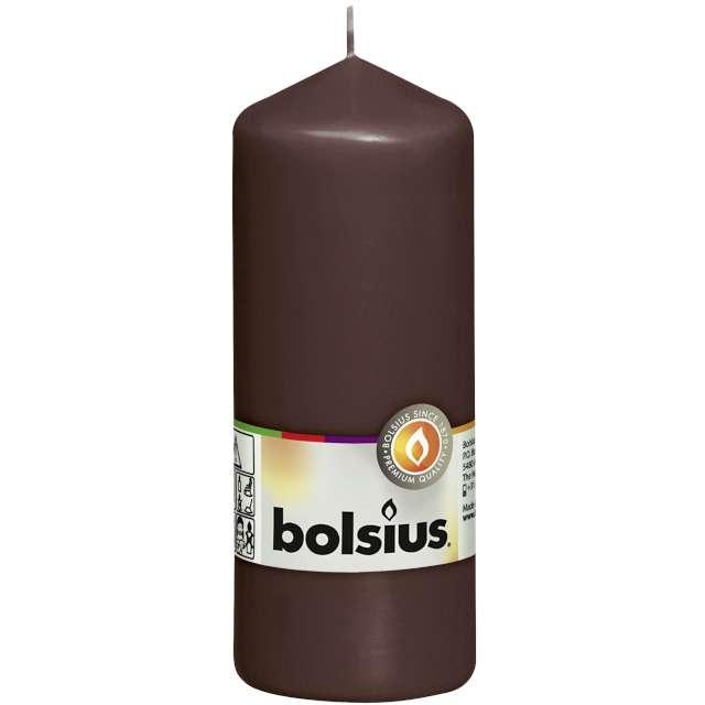 """Świeca pieńkowa """"Classic Long"""", brązowy kasztanowy, Bolsius, 150/58mm"""