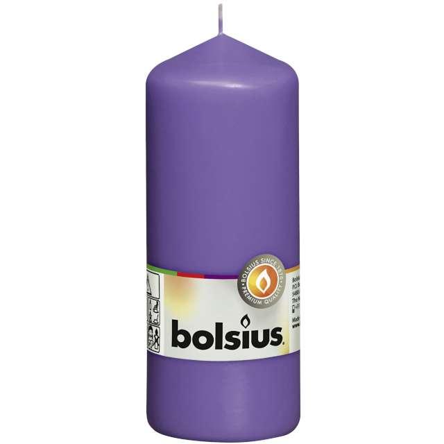 """Świeca pieńkowa """"Classic Long"""", fioletowa, Bolsius, 150/58mm"""