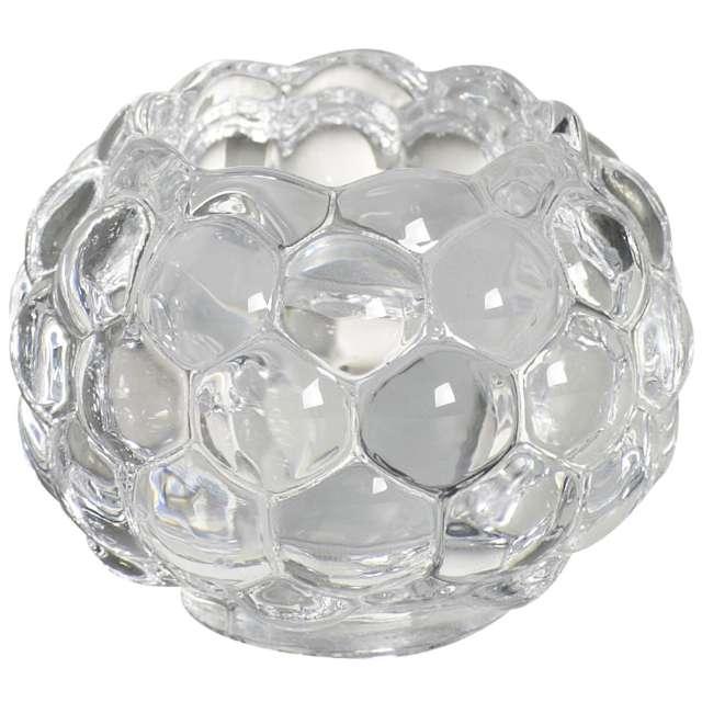 """Świecznik """"Bubble 2 w 1"""", transparentny, Bolsius"""