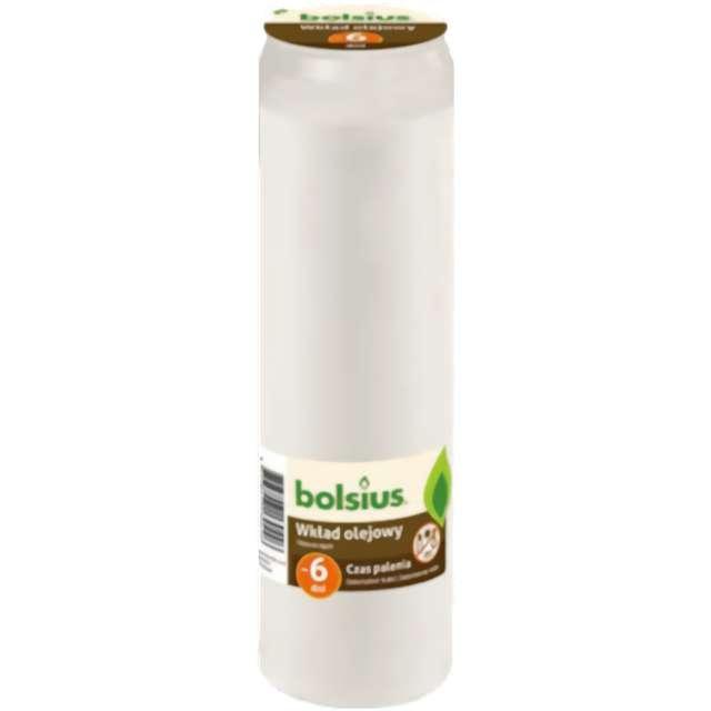 """Wkład olejowy """"Premium - 6 Dni"""", biały, Bolsius, 205 mm"""