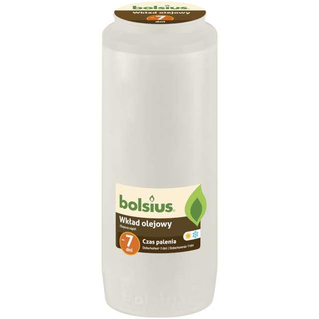 """Wkład olejowy """"Premium - 7 Dni"""", biały, Bolsius, 177 mm"""