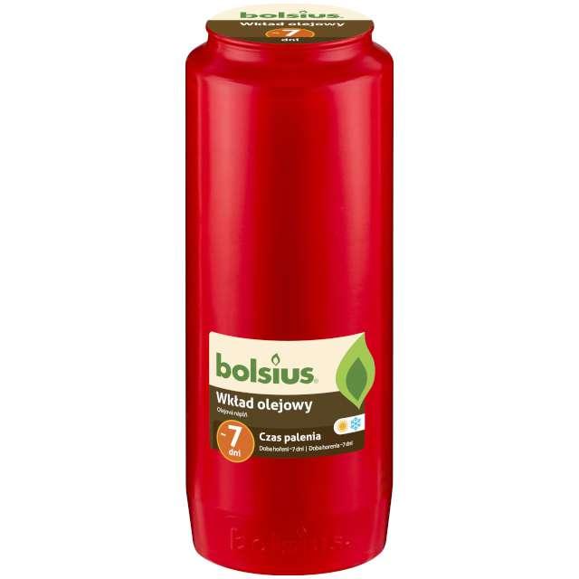 """Wkład olejowy """"Premium - 7 Dni"""", czerwony, Bolsius, 177 mm"""