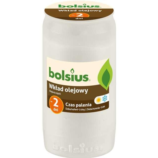 """Wkład olejowy """"Premium - 2 Dni"""", biały, Bolsius, 95 mm"""