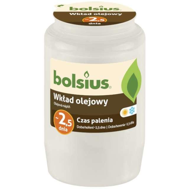 """Wkład olejowy """"Premium - 2,5 Dnia"""", biały, Bolsius, 105 mm"""