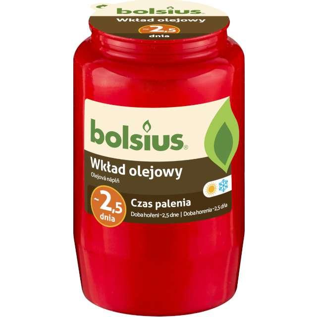 """Wkład olejowy """"Premium - 2 Dni"""", czerwony, Bolsius, 95 mm"""