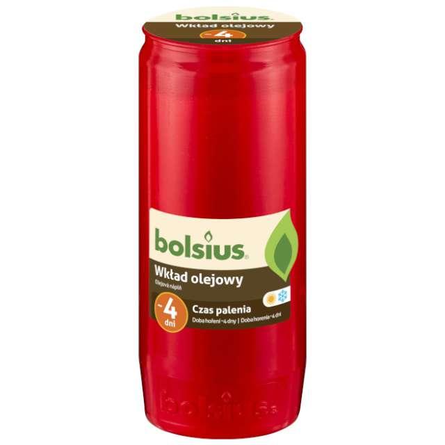 """Wkład olejowy """"Premium - 4 Dni"""", czerwony, Bolsius, 145 mm"""