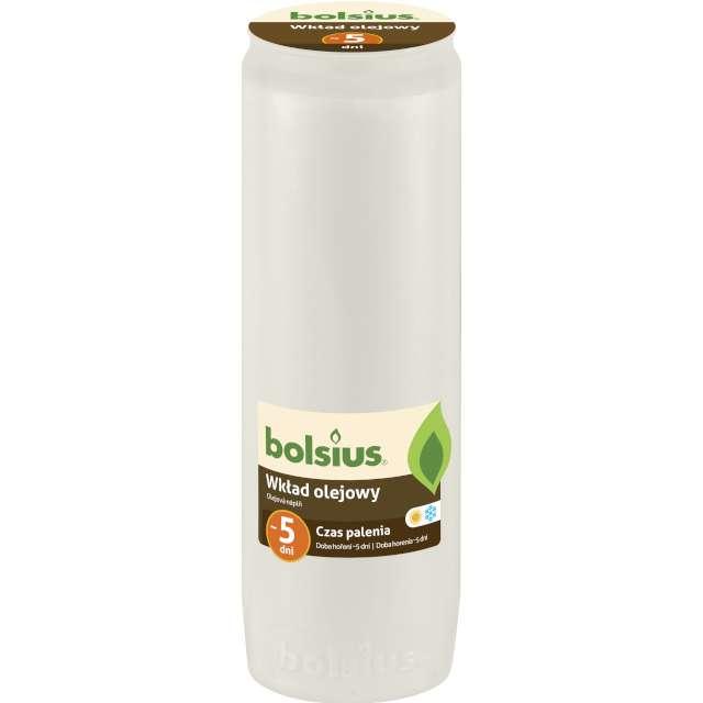 """Wkład olejowy """"Premium - 5 Dni"""", biały, Bolsius, 176 mm"""