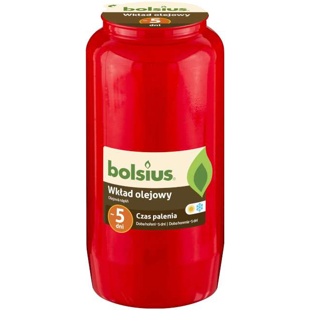 """Wkład olejowy """"Premium - 5 Dni"""", czerwony, Bolsius, 145 mm"""