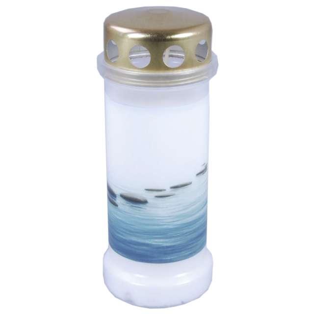 """Znicz """"Kamienie na wodzie"""", Bolsius, 6,5x17 cm"""