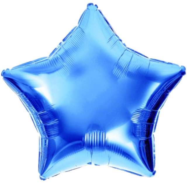 """Balon foliowy """"Gwiazda"""", niebieski, DekoracjePolska, 10"""", STR"""
