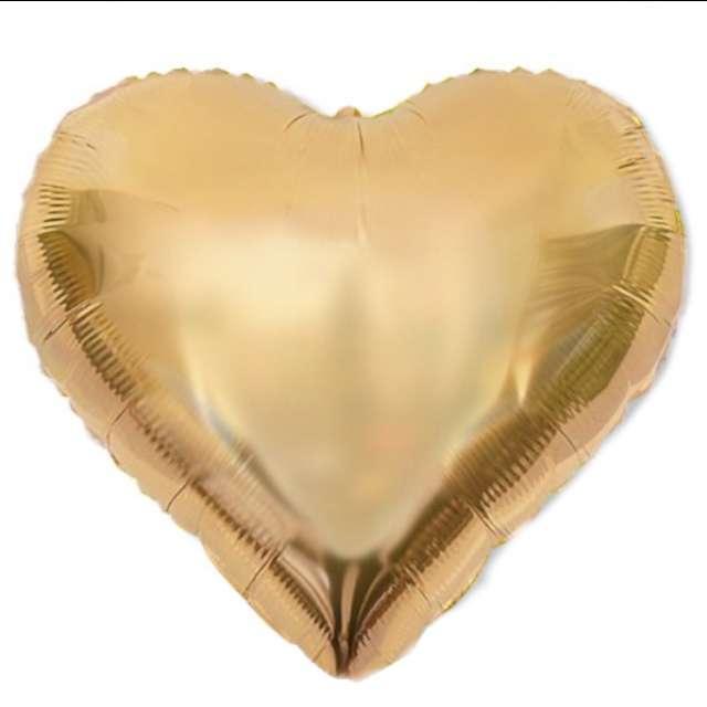 """Balon foliowy """"Serce XL"""", platynowe złoto, DekoracjePolska, 24"""" HRT"""