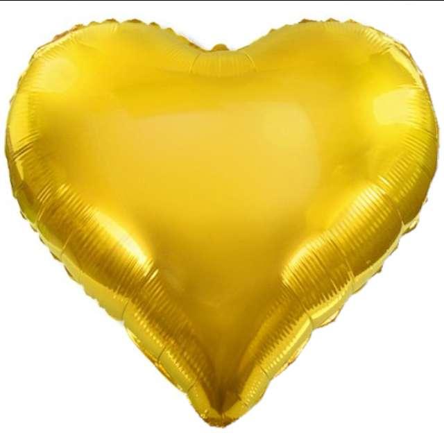 """Balon foliowy """"Serce XL"""", złote, DekoracjePolska, 24"""" HRT"""