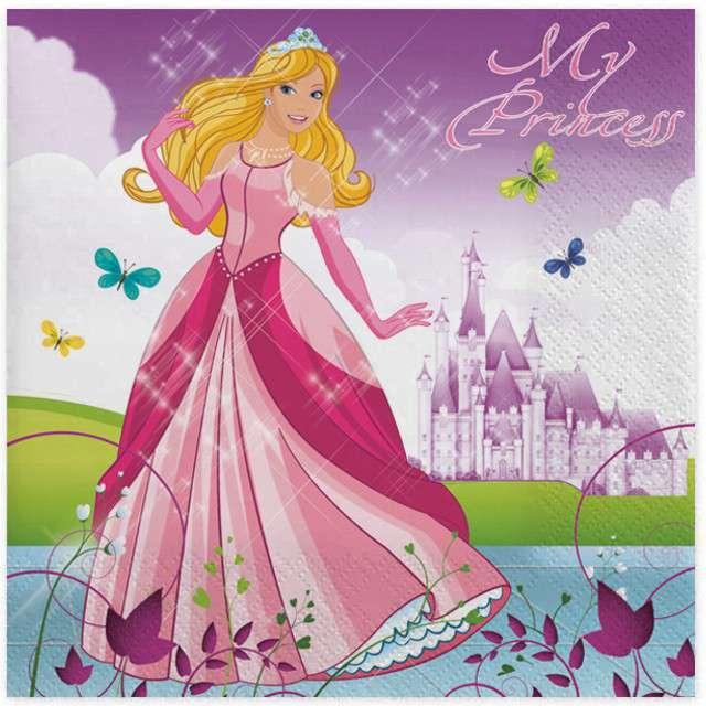 """Serwetki """"Księżniczka"""", MAKI, 33 cm, 20 szt"""