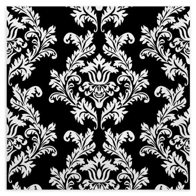 """Serwetki """"Tapeta"""", czarno-biała, MAKI, 33 cm, 20 szt"""