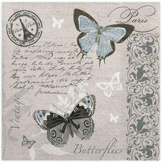 """Serwetki """"Motylowa pocztówka"""", MAKI, 33 cm, 20 szt"""