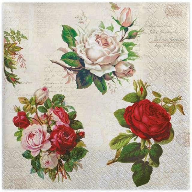 Serwetki Angielskie róże MAKI 33cm 20szt
