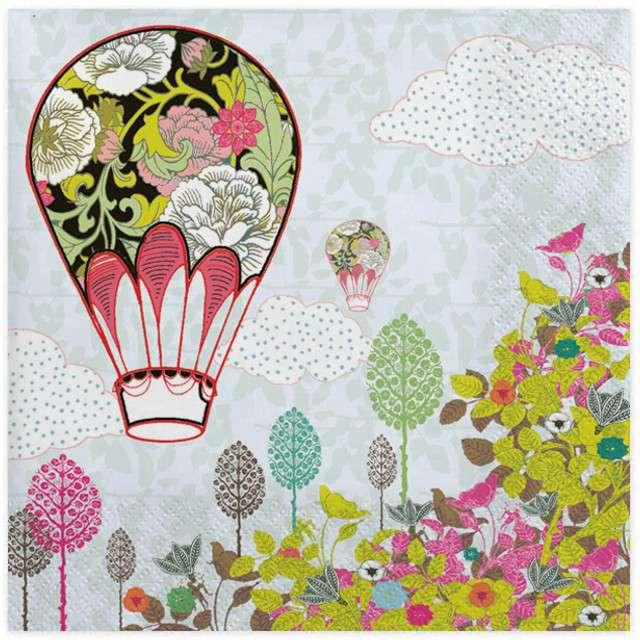 """Serwetki """"Balon w kwiaty"""", MAKI, 33 cm, 20 szt"""