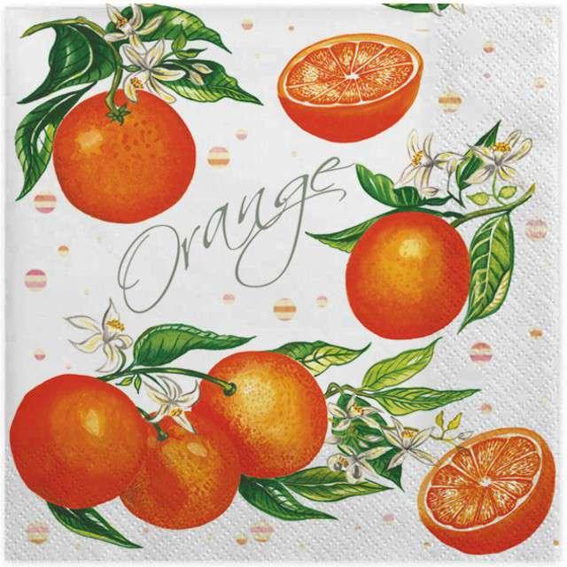 """Serwetki """"Soczyste pomarańcze"""", MAKI, 33 cm, 20 szt"""