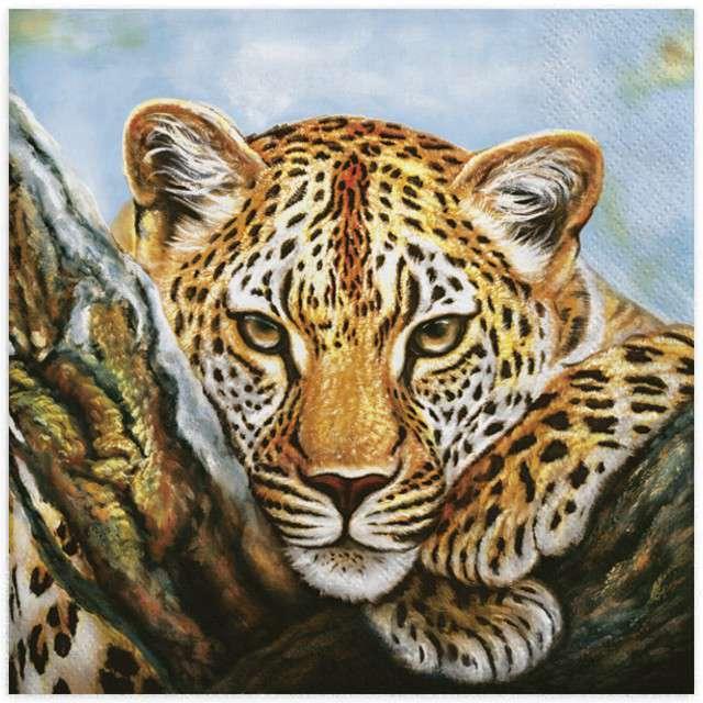 "Serwetki ""Leopard"", MAKI, 33 cm, 20 szt"