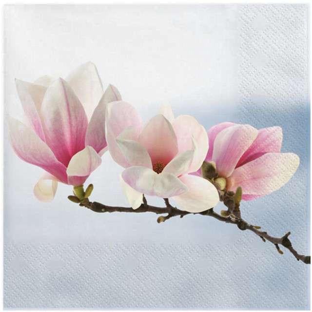 """Serwetki """"Gałązka magnolii"""", błękitna, MAKI, 33 cm, 20 szt"""