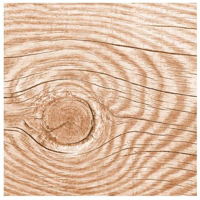"""Serwetki """"Naturalne drewno"""", brązowe, MAKI, 33 cm, 20 szt"""