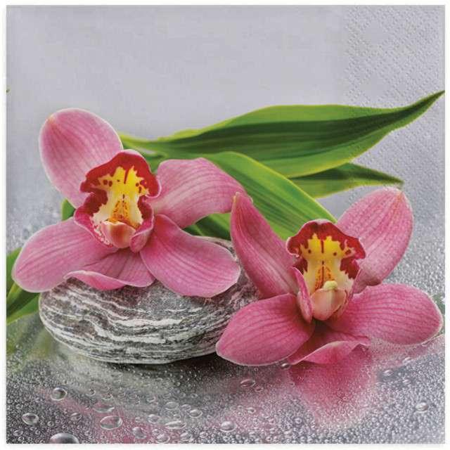 "Serwetki ""Orchidea na kamieniu"", MAKI, 33 cm, 20 szt"
