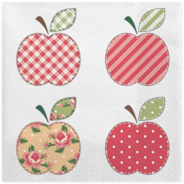 """Serwetki """"Patchworkowe jabłka"""", MAKI, 33 cm, 20 szt"""