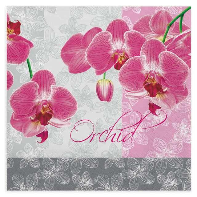 """Serwetki """"Romantyczna orchidea"""", MAKI, 33 cm, 20 szt"""