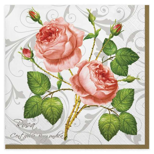 """Serwetki """"Róża z kolcami"""", MAKI, 33 cm, 20 szt"""