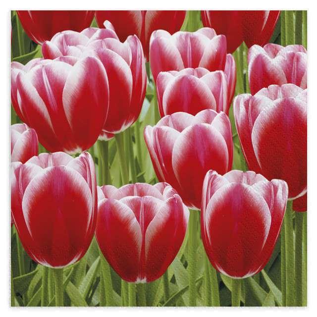 """Serwetki """"Tulipany czerwone"""", MAKI, 33 cm, 20 szt"""