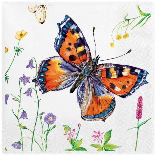 """Serwetki """"Okazały motyl"""", MAKI, 33 cm, 20 szt"""