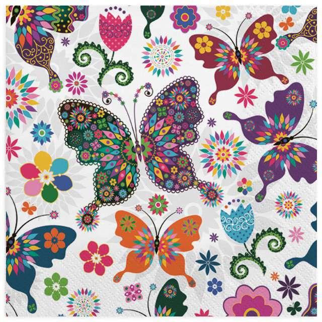 """Serwetki """"Motylowe witraże"""", MAKI, 33 cm, 20 szt"""