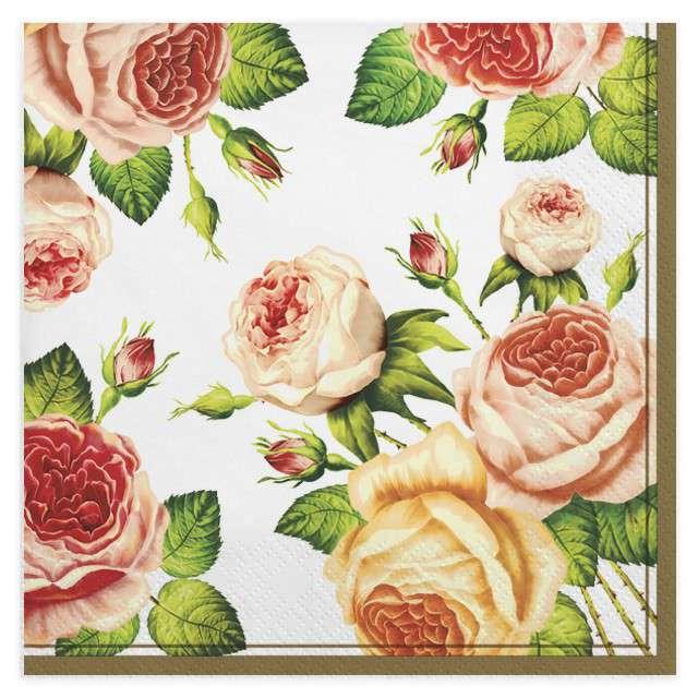 """Serwetki """"Herbaciane róże"""", MAKI, 33 cm, 20 szt"""