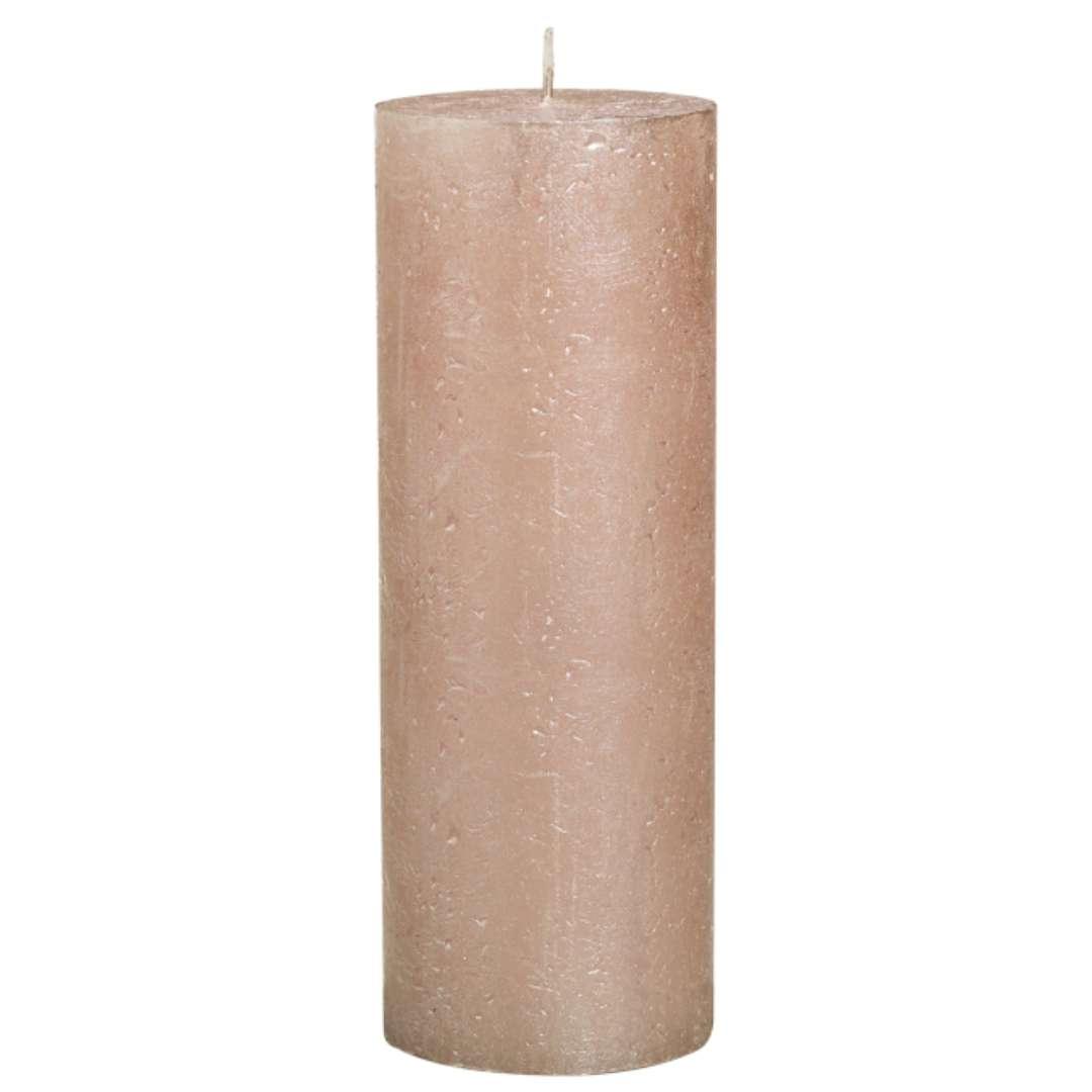 """Świeca pieńkowa """"Rustic Metallic"""", różowe złoto, Bolsius, 190/68 mm"""