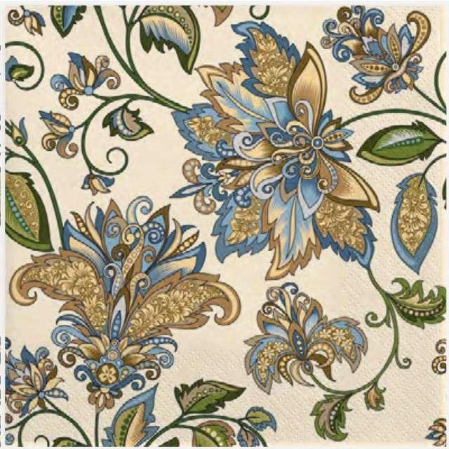 """Serwetki """"Indyjskie kwiaty"""", MAKI, 33 cm, 20 szt"""