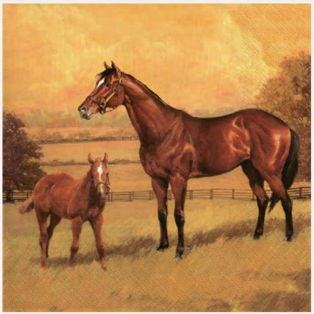 """Serwetki """"Konie na obrazie"""", MAKI, 33 cm, 20 szt"""